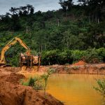 Illegal mining destroys farm lands